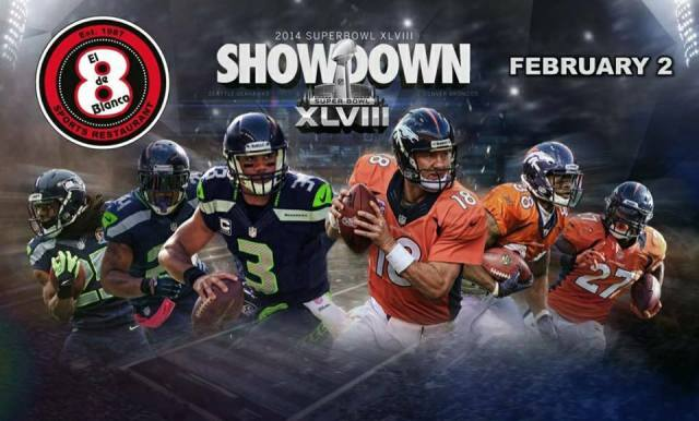 SUPERBOWL NFL El 8 de Blanco